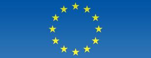 Flaga UE, oznaczająca rządowe wsparcie po Wyszehradzku