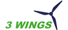 3 Wings logo