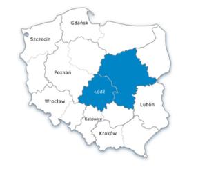 Mapa Polski - oddział środkowo-zachodni