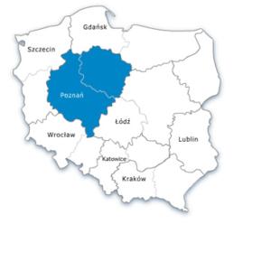 Mapa Polski - oddział zachodni