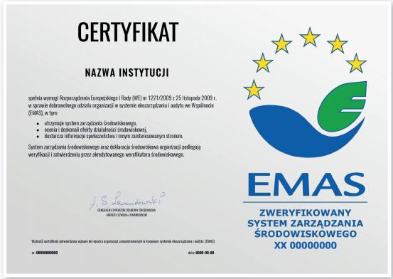 certyfikat EMAS