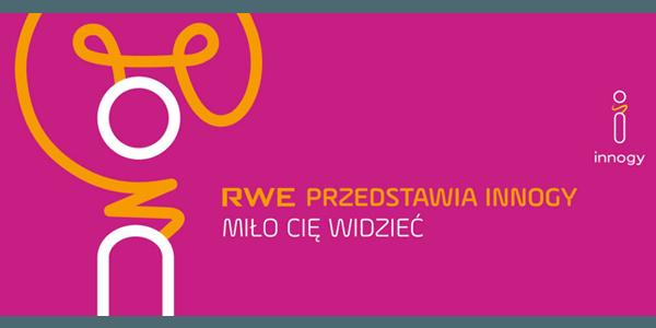 banner pokazujący nowe logo firmy RWE