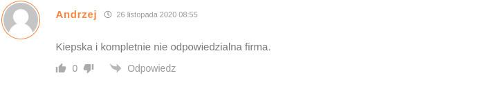 Pierwszy komentarz Pana Andrzeja.