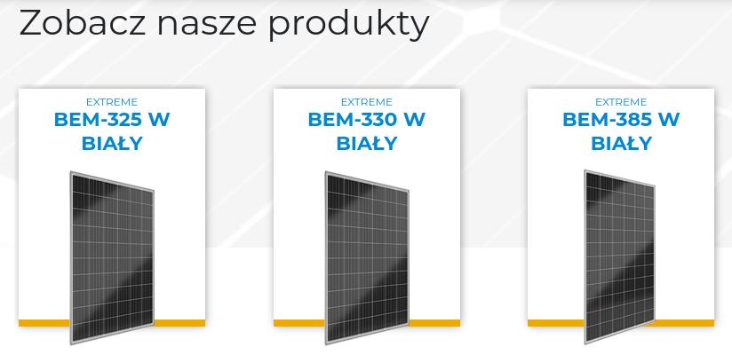Parametry paneli fotowoltaicznych - moc paneli PV.