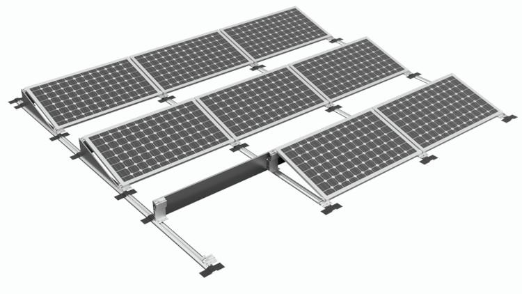 Mocowanie paneli PV na dach płaski - klejony.