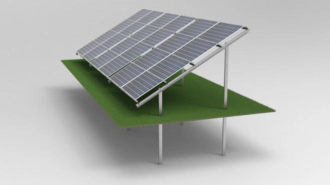 Mocowanie paneli PV na gruncie - wbijany.