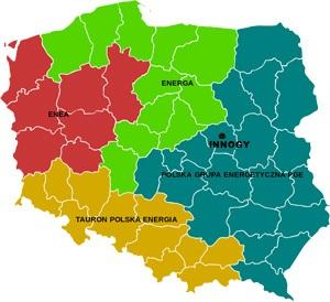 Podział kraju między różnych OSD i sprzedawców z urzędu