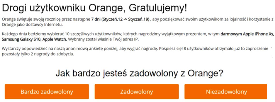 Orange oszuści