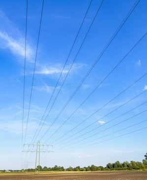 Power calbe and power pole