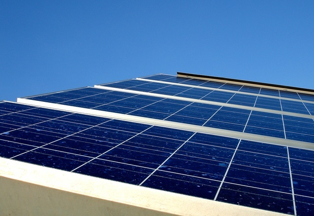 panel słoneczny z bliska