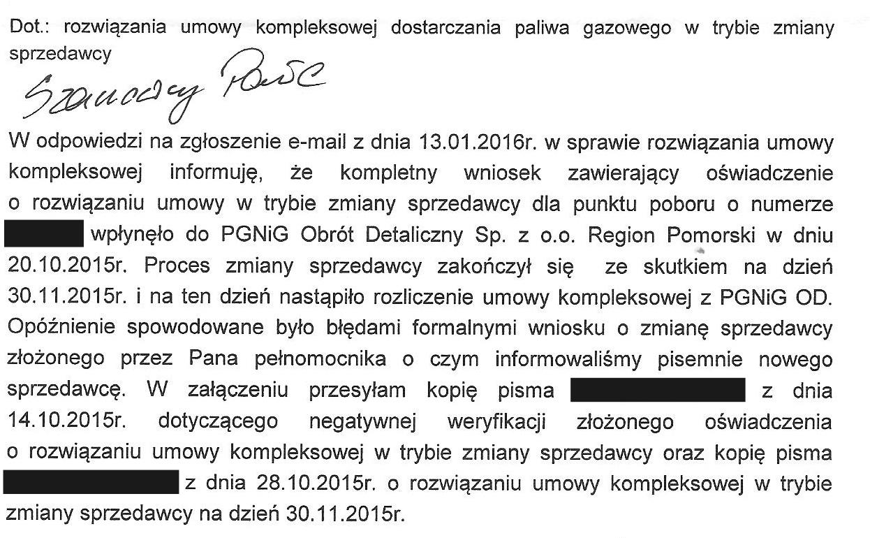 pismo z PGNiG z 14.01.2016 — kopia