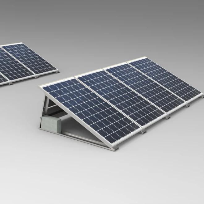 System mocowań na dach płaski - balastowy.