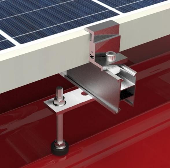 System mocowań paneli fotowoltaicznych - blachodachówka.