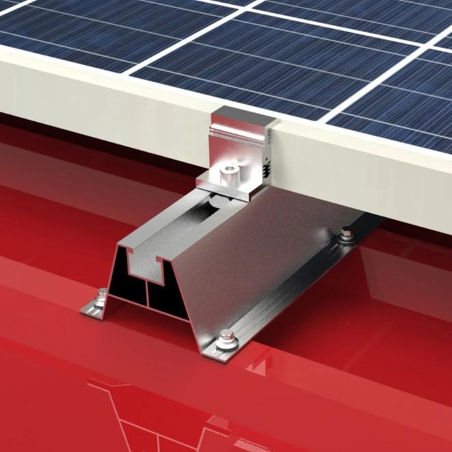 Mocowanie paneli fotowoltaicznych na blachę trapezową - Corab.