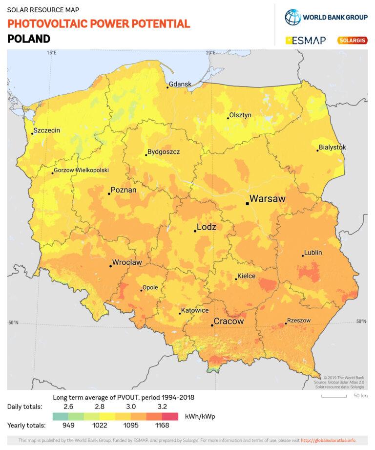 Wydajność fotowoltaiki a nasłonecznienie w Polsce.
